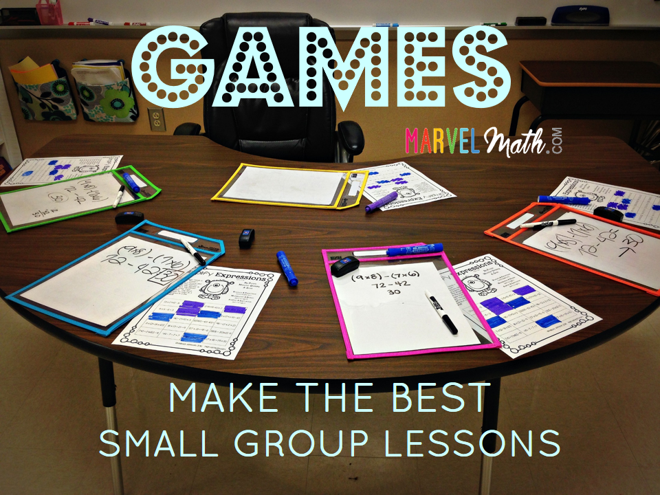 Games Make the Best Small Group Lessons!