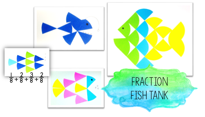 These colorful fish are not only amazing art pieces, but also can help us teach tons of fraction concepts!