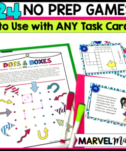Make Guided Math or Guided Reading Stations with the NO PREP Game boards