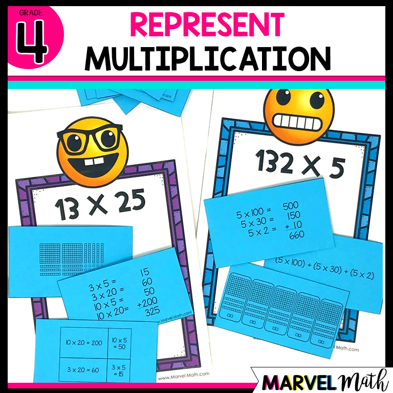 2x2 and 3x1 Multiplication: Partial Products, Area Models Arrays ...