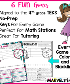 4th Grade Games for Dot Plots and Stem-and-Leaf Plots. Data Sets include whole numbers, fractions & decimals