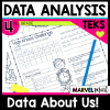 4th Grade Class Data Book: Using Dot Plots and Stem-and-Leaf Plots, TEKS 4.9A, 4.9B, 4.MD.B.4