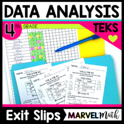 4th Grade TEKS Dot Plot and Stem-and-Leaf Plot Exit Slips to assess TEKS 4.9A and 4.9B. Make sure your students are on track for STAAR!