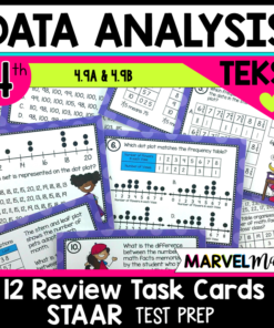 4th Grade Task Cards for Dot Plots and Stem and Leaf Plots