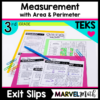 Area and Perimeter Exit Tickets Exit Slips