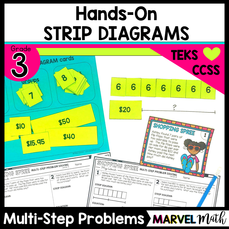 Slide10 hands on strip diagrams with multi step multiplication problems