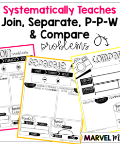 2nd Grade Problem Solving Notebook: Join, Separate, Part-part-whole and compare word problems