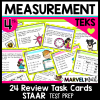 4th Grade Math STAAR Review Measurement Task Cards
