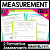 Area, Perimeter, Measurement Conversions Formative Assessment