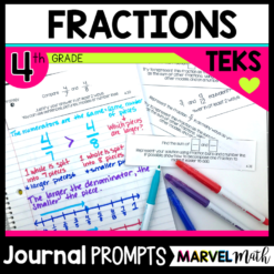 Fraction Math Journal Prompts to truly assess student learning