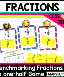 Comparing Fractions to 1/2 Game (Benchmark Fractions)