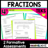 Formative Assessments 4th Grade Fractions TEKS