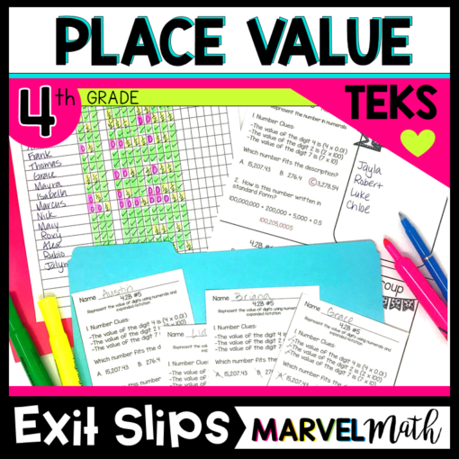 Place Value Exit Slips TEKS