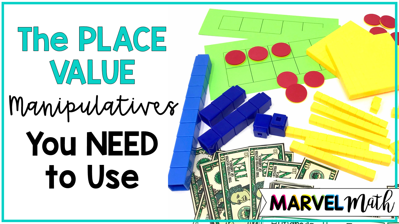Place Value Blocks, Ten Frames, Five Frames and Money are all Great Place Value Tools