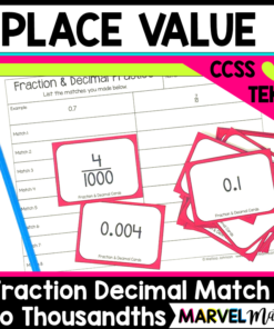 Decimals and fractions to the thousandths place