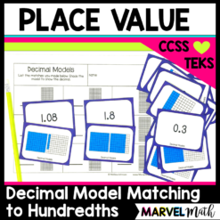 Represent Decimals with Pictorial Models, TEKS 4.2E