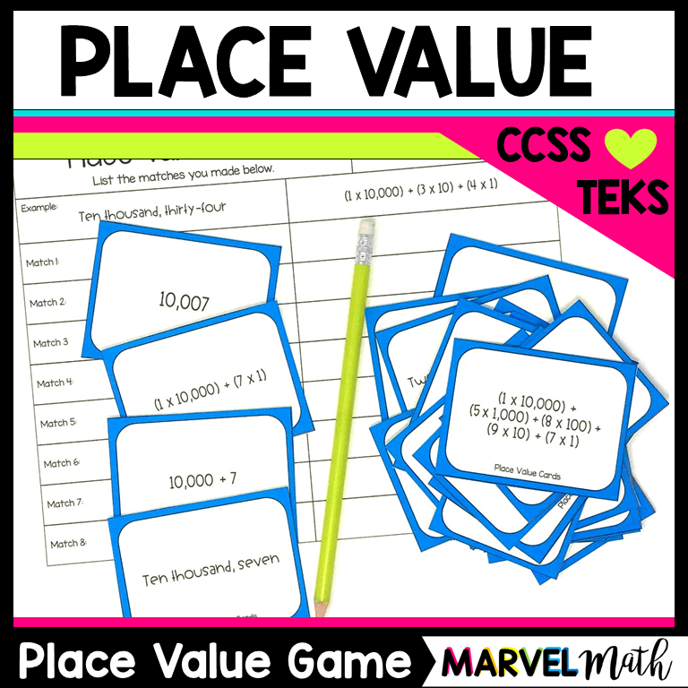 Place Value Game Expanded Notation Standard Form Word Form