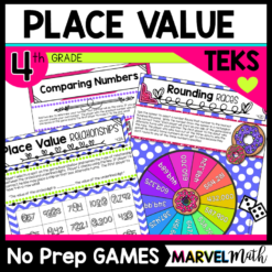 Place Value Games for the 4th Grade Math TEKS