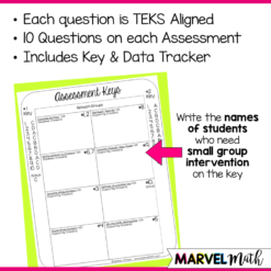 4th Grade Place Value TEKS Formative Assessments