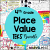4th Grade TEKS Place Value Unit and Bundle