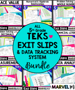 These Exit slips/Exit tickets make excellent formative assessments to make sure your students are learning the 5th grade Math TEKS and are on-track for the STAAR test.