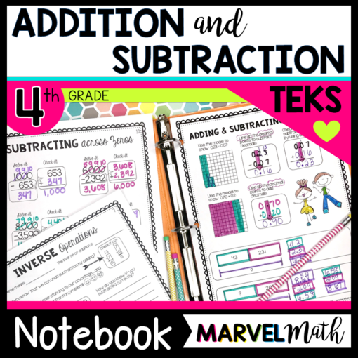 Addition and Subtraction TEKS Interactive Notebook