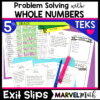 5th Grade Addition, Subtraction, Multiplication and Division TEKS Exit Slips/Exit Tickets