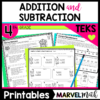 Have fun adding and subtracting decimals and whole numbers with these fun printables! Every pages is TEKS aligned.