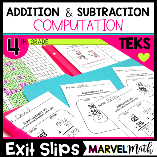 Addition and Subtraction Exit Slips/Exit Tickets