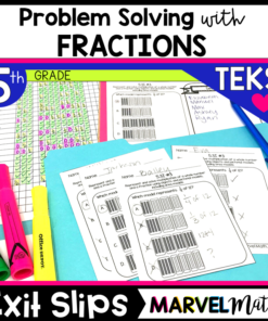 5th Grade Math TEKS Exit Slips/Exit Tickets: Add, Subtract, Multiply and Divide Fractions