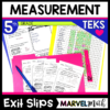 5th Grade Math TEKS Exit Slips/Exit Tickets : Area, Perimeter, Volume, Conversions