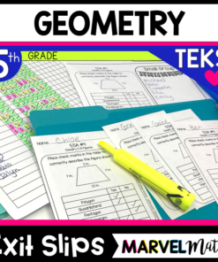 5th Grade Geometry TEKS Exit Slips/Exit Tickets