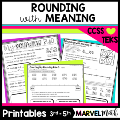 Rounding decimals and whole numbers on a number line