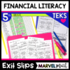 Exit Slips/Exit Tickets to use as formative assessments for 5.10A, 5.10B, 5.10E, 5.10F