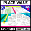 5th Grade Place Value TEKS Exit Slips/Exit Tickets