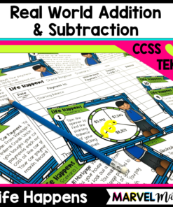 Students will love adding and subtracting expenses in a paycheck and tracking paychecks and bills. This is the perfect real world activity to practice adding and subtracting decimals, distinguishing between fixed and variable expenses, and learning the basic function of financial institutions.