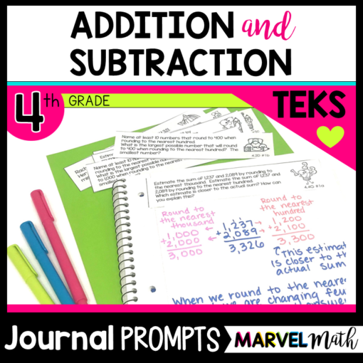 Math Journal Prompts for Addition and Subtraction