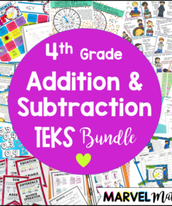 This Addition and Subtraction TEKS Unit and Bundle will keep your students engaged while helping prepare them for the rigor of the STAAR test.