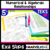 5th Grade Math TEKS Exit Slips/Exit Tickets