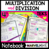 4th Grade Multiplication & Division TEKS Interactive Notebook