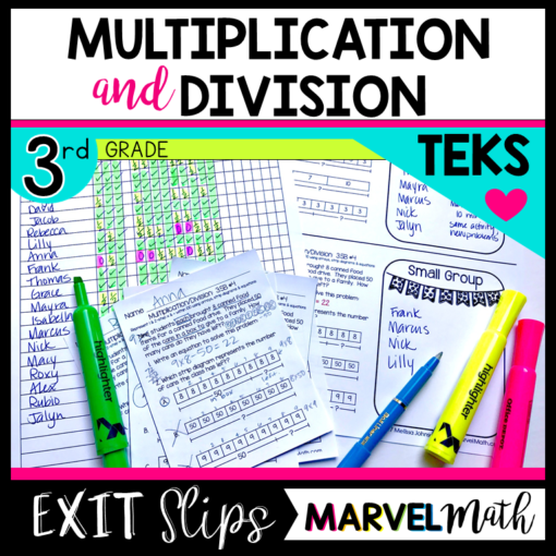 Exit Slips/Exit Tickets for 3rd Grade TEKS