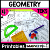 4th Grade Geometry TEKS Printables Worksheets