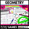 4th Grade Geometry Games TEKS aligned