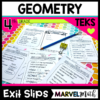 4th Grade Geometry TEKS Exit Slips Exit TIckets