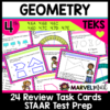 4th Grade STAAR Review Geometry Task Cards