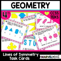 Lines of Symmetry TEKS 4.6B, CCSS 4.GA.3