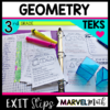 3rd Grade TEKS Exit Slips/Exit Tickets Geometry