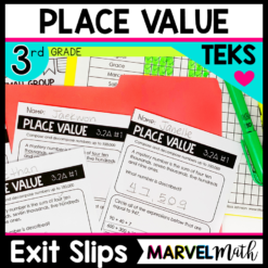 3rd Grade Place Value Exit Slips for the TEKS