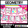 Geometry Vocabulary Bunting 4th Grade Math Word Wall