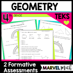 4th Grade Geometry TEKS Assessments, Tests